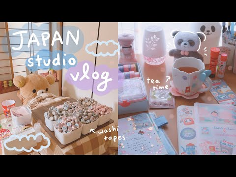 Japan Studio Vlog | Packing Washi Tape Sets (relaxing & slightly chaotic lolol)