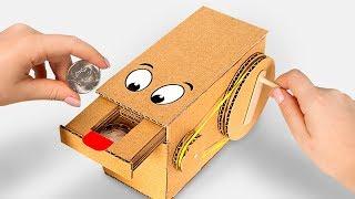 お小遣いも飲み込んじゃう!貯金箱おばけを作ったよ!