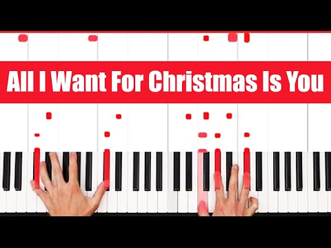 All I Want For Christmas Is You Mariah Carey Piano Tutorial  VOCAL  PART 1