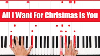 All I Want For Christmas Is You Mariah Carey Piano Tutorial - VOCAL - PART 1
