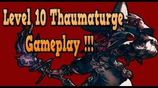 FF14 Realm Reborn - Level 10 Thaumaturge (gameplay/skills/rotation) Guide!