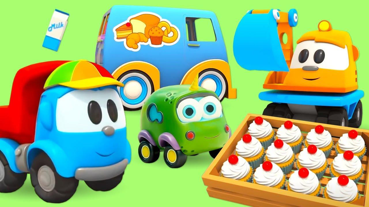 Мультфильмы для детей про Машинки. Большой сборник про еду для малышей