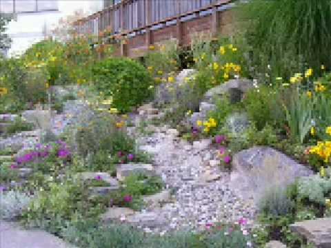 Making a dry creek bed garden