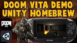 PS Vita DOOM! Unity Homebrew Game! FPS Test!
