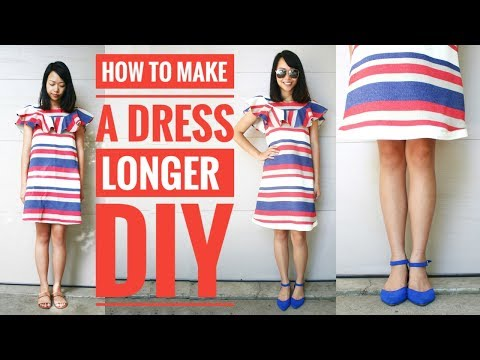DIY | HOW TO MAKE A SHORT DRESS LONGER : Transform Old Clothes