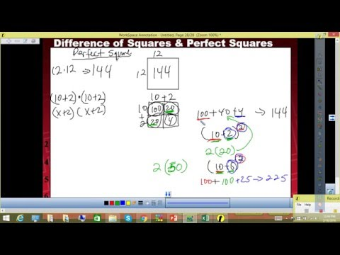 M r. Q's Factoring Perfect Squares and Difference of Squares