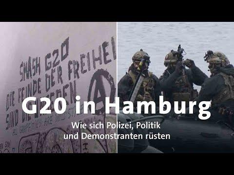G20 in Hamburg: Polizei und Demonstranten rüsten sich