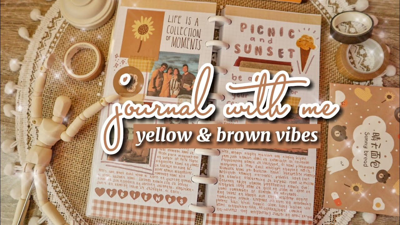 yellow & brown journal with me ✨ [collab with @chloe pascual]
