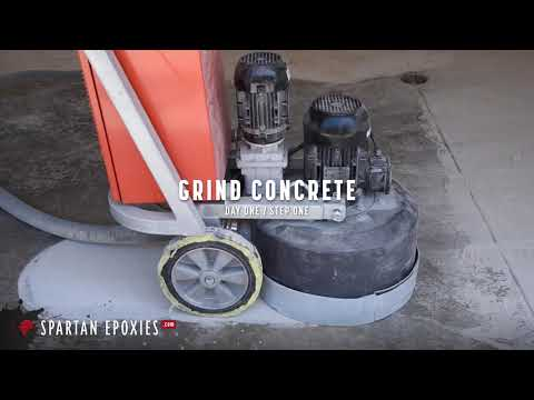 How to Prepare Concrete for Epoxy using a Diamond Grinder