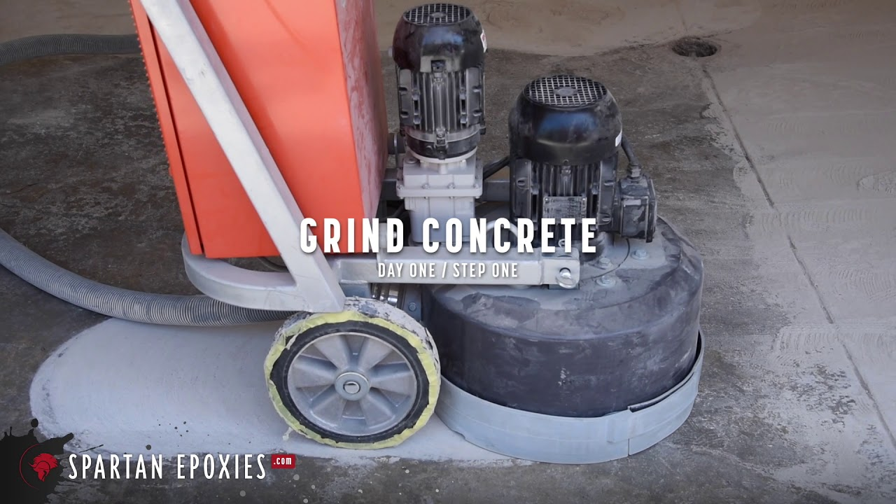 How To Prepare Concrete For Epoxy Using A Diamond Grinder Youtube