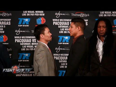 Manny Pacquiao vs. Jessie Vargas COMPLETE Face Off Video