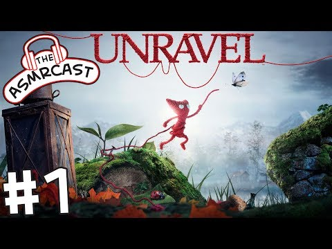 ASMR Gaming: Unravel - #1 Thistle and Weeds (A Binaural Let's Play)