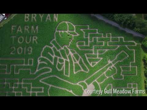 Chad Heritage - corn maze in the likeness of Luke Bryan to celebrate the Farm Tour