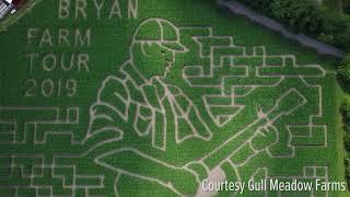Michigan farm creates Luke Bryan corn maze.