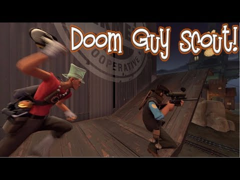TF2: Weapon challenges]-[ Doom Guy Scout!]