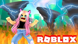 SURVIVE The TORNADO In ROBLOX! (Natural Disasters)