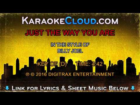 Billy Joel Just The Way You Are Backing Track Youtube