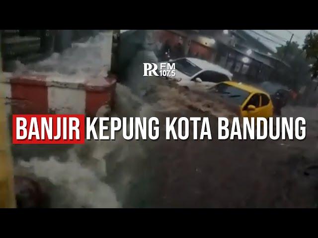 Terjadi Banjir di Beberapa Tempat di Kota Bandung Usai Hujan Deras