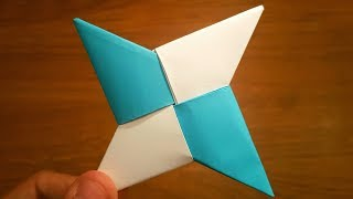 How To Make a Paṗer Ninja Star (Shuriken) - Origami | Remake