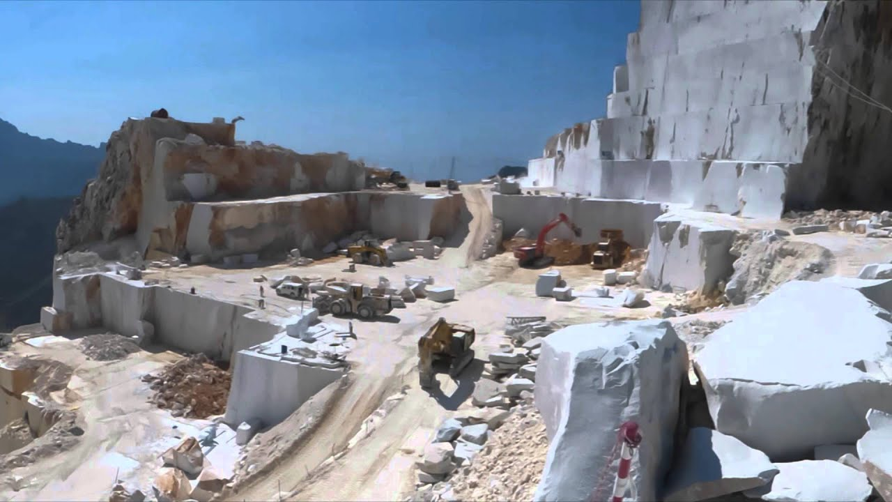 Carrara Marble Quarries Italy Youtube