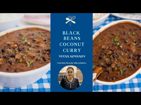Black Beans Coconut Curry - Black Beans Recipe - Healthy Vegetarian Cooking