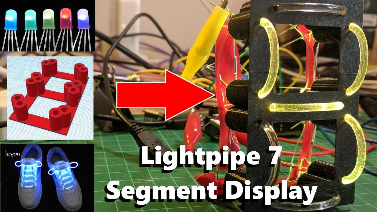 Lightpipe 7-Segment Display: 7 Steps (with Pictures)