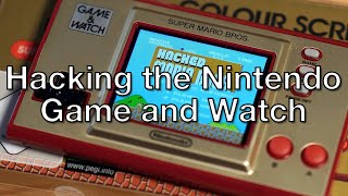 Hacking the Nintendo Game and Watch Super Mario Bros.