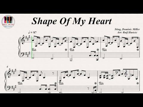 Shape Of My Heart - Sting, Piano