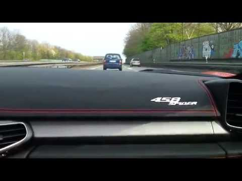 Onboard Ride, Tunnel, Acceleration! Ferrari 458 Spider