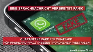 Fake Nachricht Corona Virus Per Whatsapp