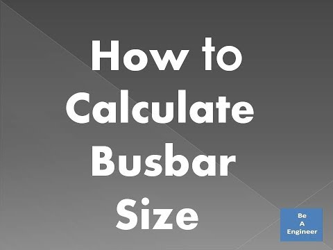 How to Calculate Busbar size in Electrical Panel