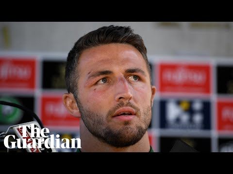 Sam Burgess emotional over effect of 'sexting' scandal on his family