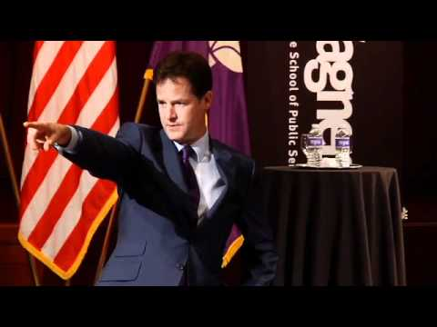 A Conversation with The Right Honorable Nick Clegg, Deputy Prime Minister UK