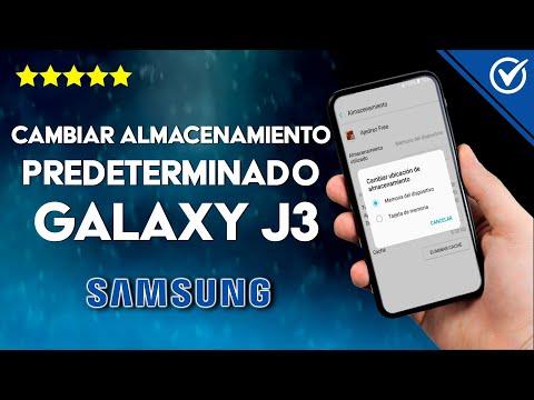 Cómo Cambiar en un Samsung J3 el Almacenamiento Predeterminado