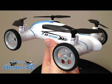 Syma X9 Flying Car Quadcopter Drone Unboxing, Maiden Flight