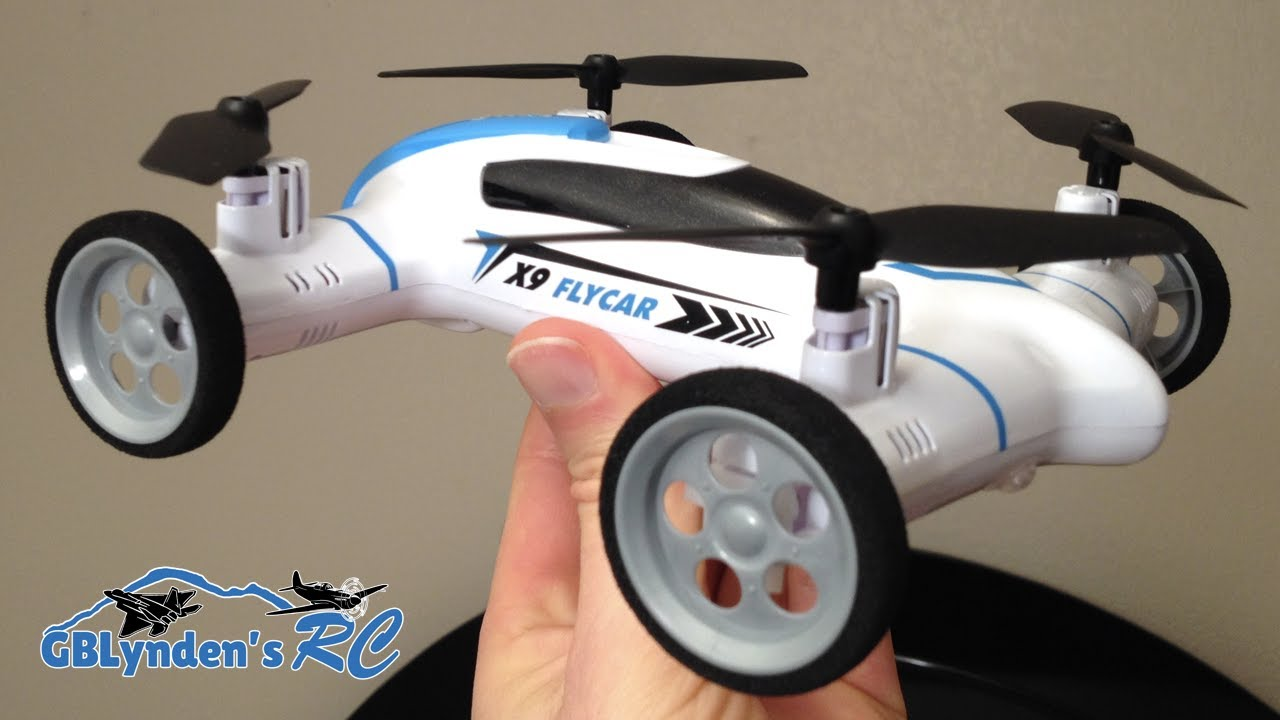 Syma X9 Flying Car Quadcopter Drone Unboxing Maiden Flight Drive And Review