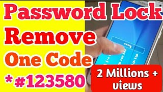 Password Lock Remove any Android Mobile Without Computer and Flashing