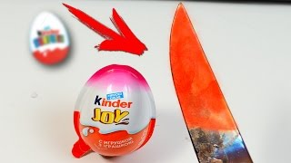 EXPERIMENT Glowing 1000 degree KNIFE VS KINDER SURPRISE
