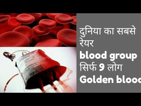 Rarest blood group of world    Golden blood    1 donor only    all science explained