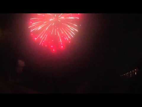 100mm Kugelbombe - Brocade with Red Blink