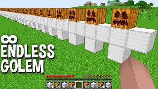 its FORBIDDEN METHOD how to SPAWN ENDLESS GOLEM in Minecraft !!!