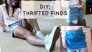 DIY: FROM THRIFT TO SPIFFED // SHORTS, SKIRT, AND SWEATSHIRT