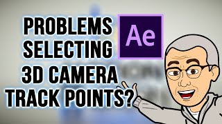 How To Fix Camera Tracking Problems - Can't Select Camera Track Points?