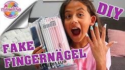 FAKE FINGERNÄGEL Strohhalm Kinder DIY - wie mache ich | Mileys Welt