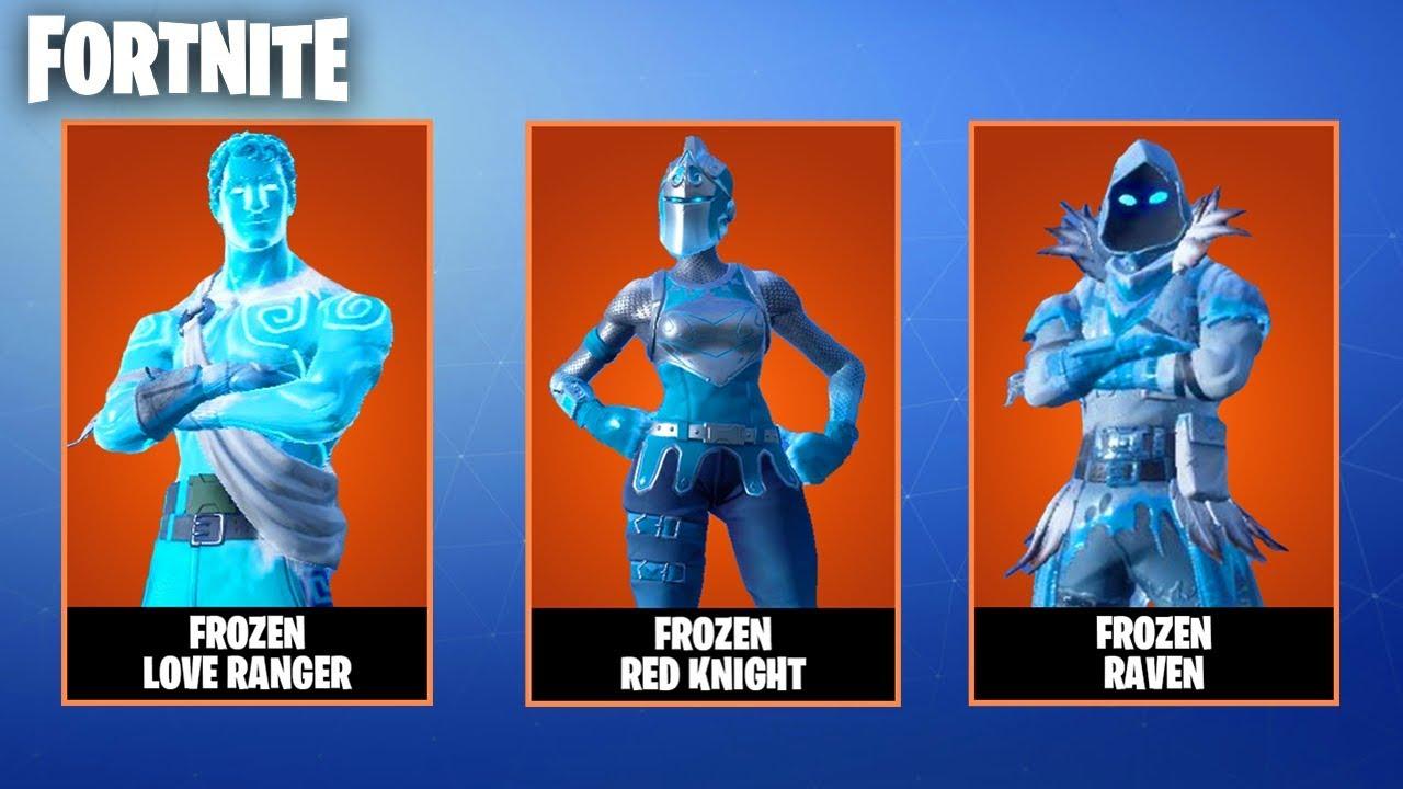 Fortnite Frozen Legends Skin Bundle Frozen Red Knight Frozen