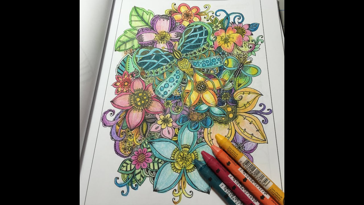 coloring in my coloring book color supplies used are listed in the description box youtube