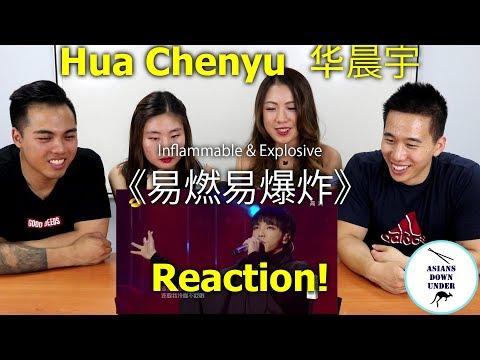 Hua Chenyu 华晨宇 - Inflammable Explosive《易燃易爆炸》   Reaction Video - Aussie Asian 华晨宇 -《歌手2018》第8期