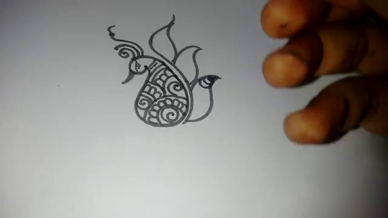 Henna designs peacock henna peacock - Beautiful Easy Peacock With Henna Mehndi Design Matroj Mehndi Designs