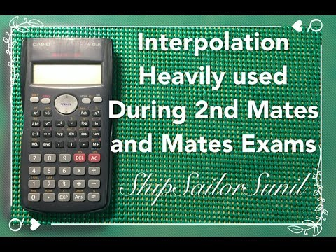 Interpolation for 2nd Mates & Mates exams/ShipSailorSunil
