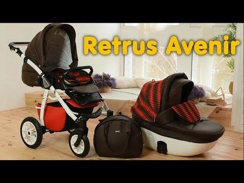 Универсальная коляска 2 в 1 Retrus Avenir видео обзор
